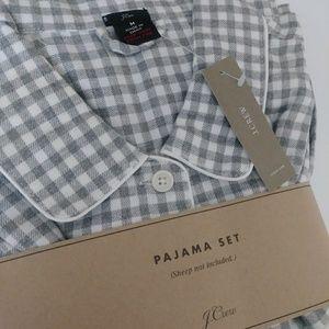 NWT J. Crew Checkered Gingham Pajama Set Medium